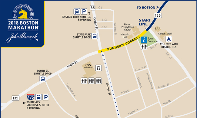 Hopkinton Start Area
